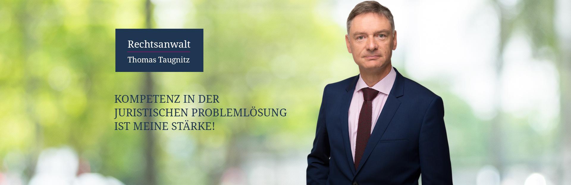 Banner Rechtsanwalt Taugnitz